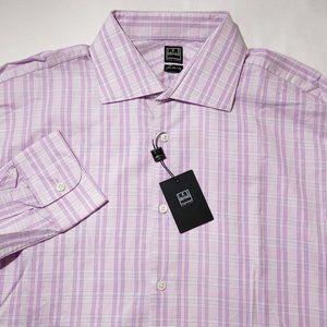 Ike Behar Plaid Dress Shirt Sz 16 1/2 NWT $135